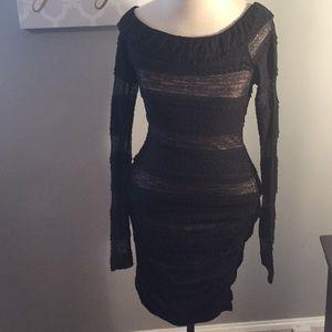 Bodycon bcbg lace dress.